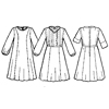 Cape Dress with Nursing Option-
